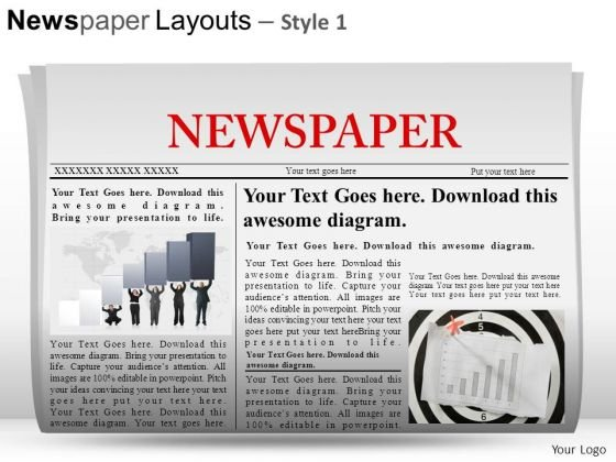 Business Newspaper Layouts 1 PowerPoint Slides And Ppt Diagram