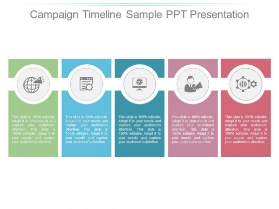 Campaign Timeline Sample Ppt Presentation - PowerPoint Templates