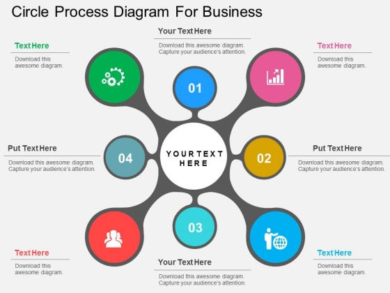 Circle Process Diagram For Business Powerpoint Templates