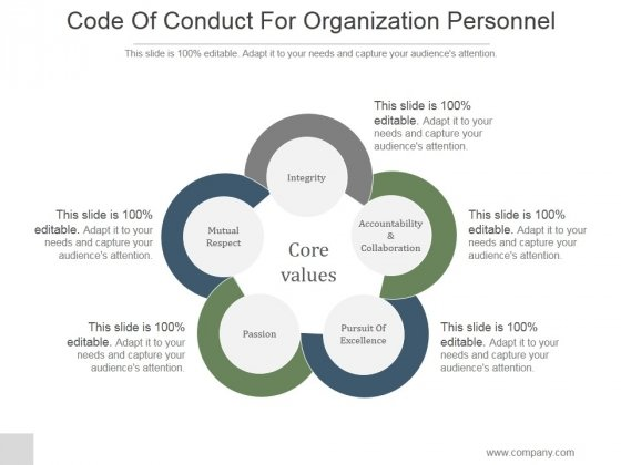 Code Of Conduct For Organization Personnel Ppt PowerPoint - code of conduct example