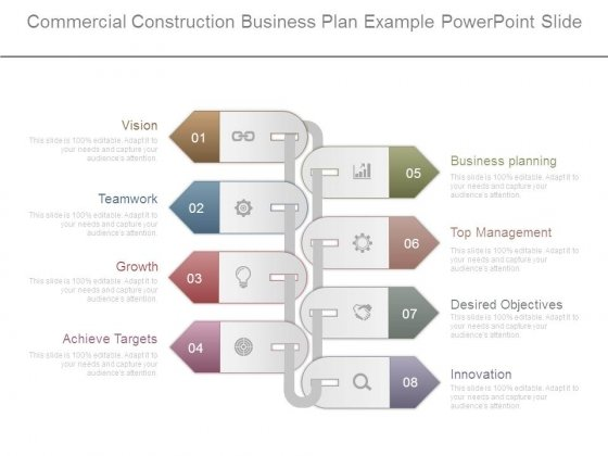 Commercial Construction Business Plan Example Powerpoint Slide