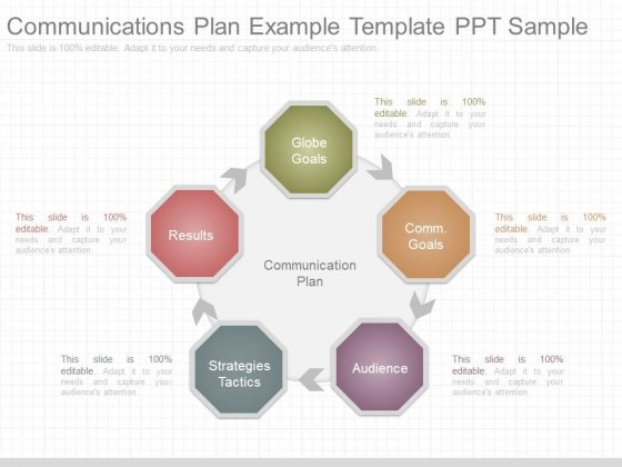 Communications Plan Example Template Ppt Sample - PowerPoint Templates