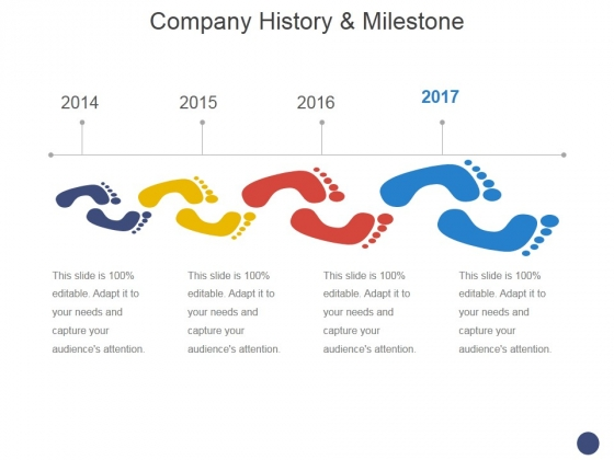Company History And Milestone Template 1 Ppt PowerPoint Presentation