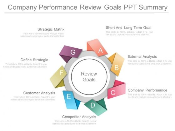 Company Performance Review Goals Ppt Summary - PowerPoint Templates - company performance review template