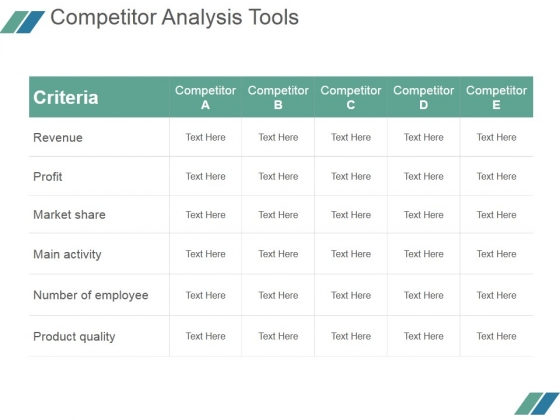 Competitor Analysis Tools Ppt PowerPoint Presentation Example File