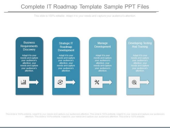 Complete It Roadmap Template Sample Ppt Files - PowerPoint Templates