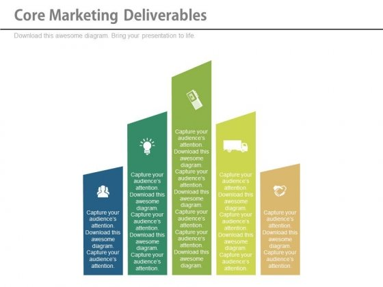 Core Marketing Deliverables Ppt Slides - PowerPoint Templates