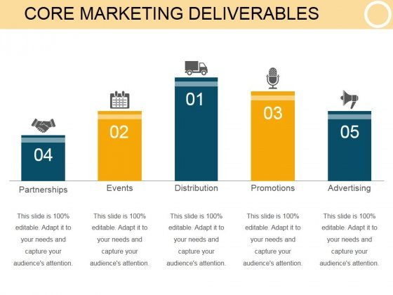 Core Marketing Deliverables Template 1 Ppt PowerPoint Presentation