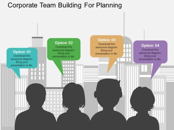 Corporate Team Building For Planning Powerpoint Templates