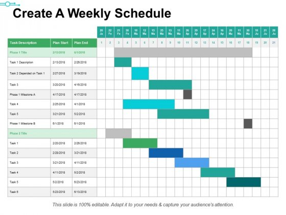 Create A Weekly Schedule Ppt PowerPoint Presentation Portfolio