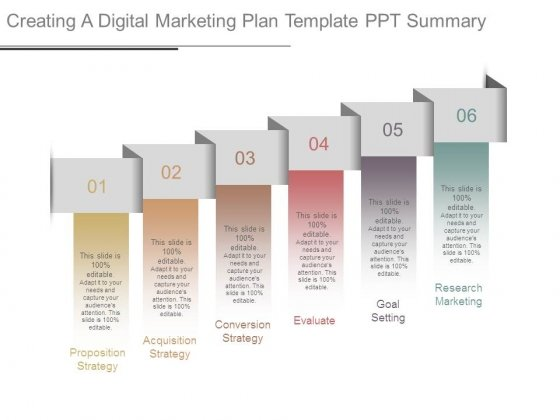 Creating A Digital Marketing Plan Template Ppt Summary - PowerPoint - digital marketing plan template