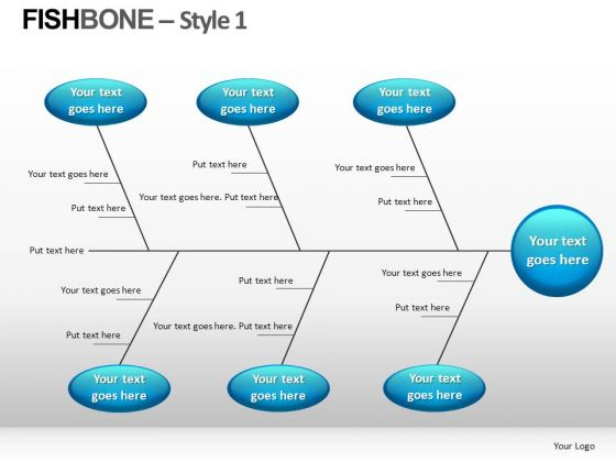 Cause Analysis Fishbone Diagram PowerPoint Slides - PowerPoint Templates