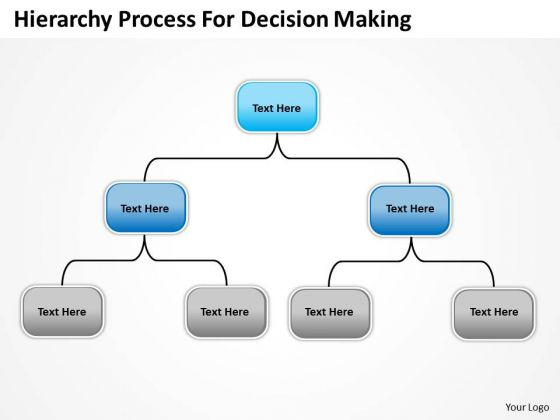 Company Organization Chart Hierarchy Process For Decision Making