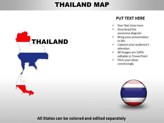 Country PowerPoint Maps Thailand - PowerPoint Templates