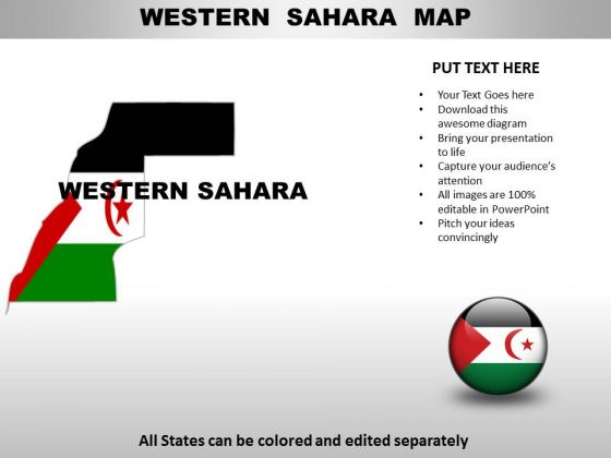 Country PowerPoint Maps Western Sahara - PowerPoint Templates