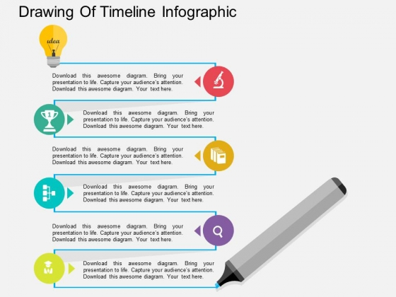 Drawing Of Timeline Infographic Powerpoint Template - PowerPoint