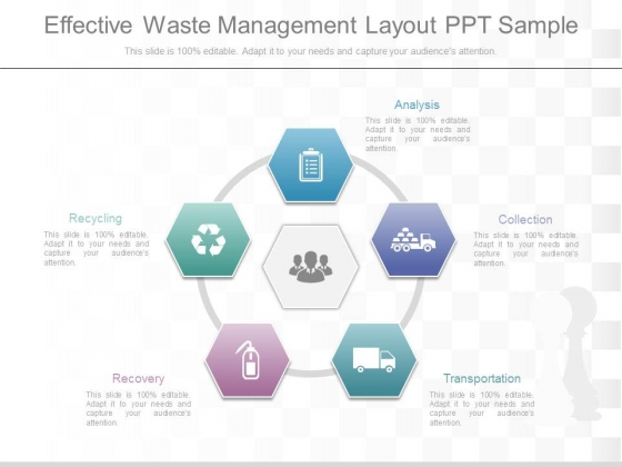 Effective Waste Management Layout Ppt Sample - PowerPoint Templates