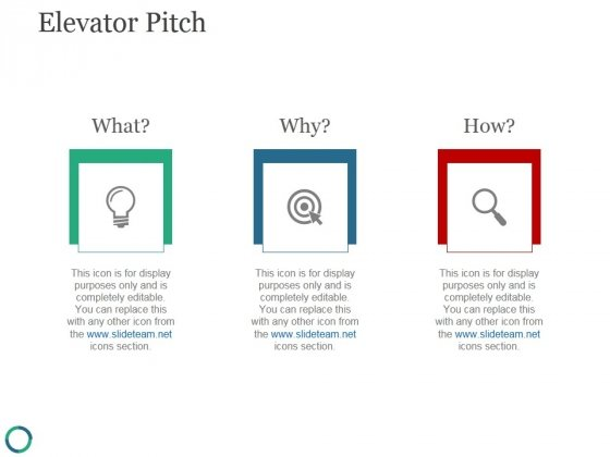 Elevator Pitch Template 1 Ppt PowerPoint Presentation Information - elevator pitch template