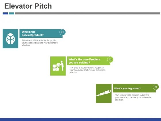 Elevator Pitch Template 1 Ppt PowerPoint Presentation Show Slide - product pitch template