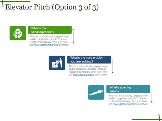 Elevator Pitch Template Ppt PowerPoint Presentation Inspiration - product pitch template