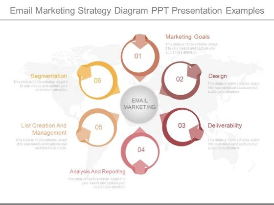 Email Marketing Strategy Diagram Ppt Presentation Examples - marketing presentation