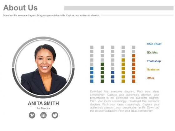 Employee Profile For About Us Slide Powerpoint Slides - PowerPoint