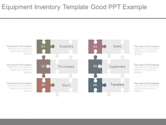 Equipment Inventory Template Good Ppt Example - PowerPoint Templates