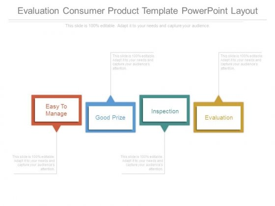 Evaluation Consumer Product Template Powerpoint Layout - PowerPoint - product evaluation template