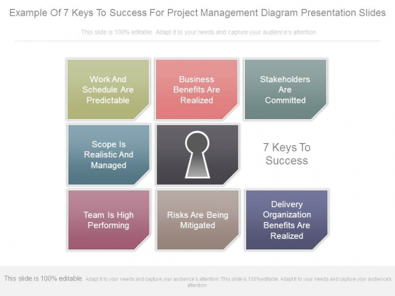 Example Of 7 Keys To Success For Project Management Diagram - Presentation Project