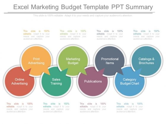 Excel Marketing Budget Template Ppt Summary - PowerPoint Templates - marketing budget template