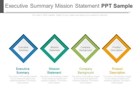 Executive Summary Mission Statement Ppt Sample - PowerPoint Templates - executive summary