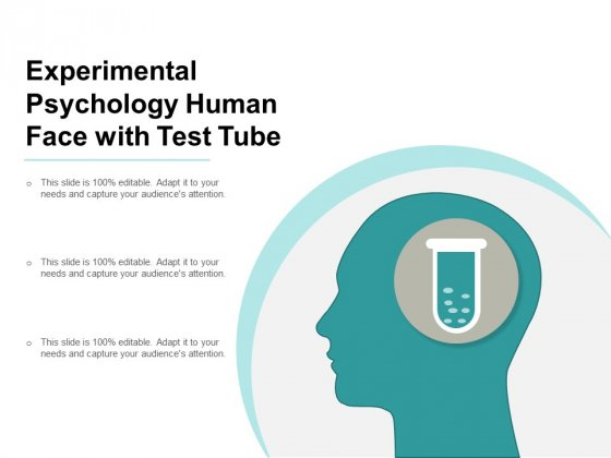 Experimental Psychology Human Face With Test Tube Ppt Powerpoint