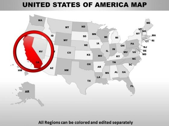 Us states maps PowerPoint templates, backgrounds Presentation slides