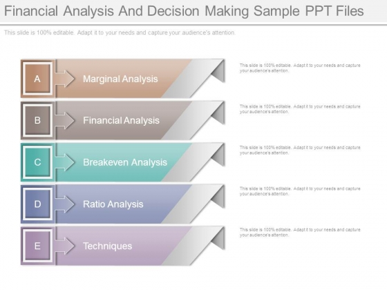 Financial Analysis And Decision Making Sample Ppt Files - sample financial analysis