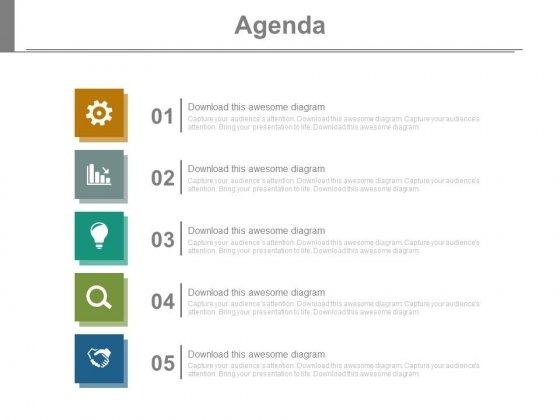 Agenda PowerPoint templates, Slides and Graphics