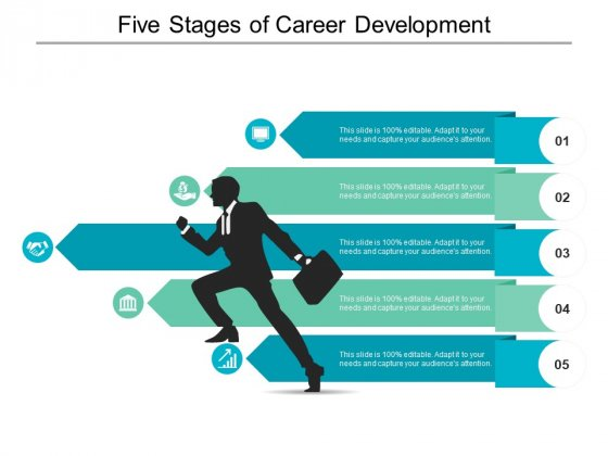Five Stages Of Career Development Ppt PowerPoint Presentation Model