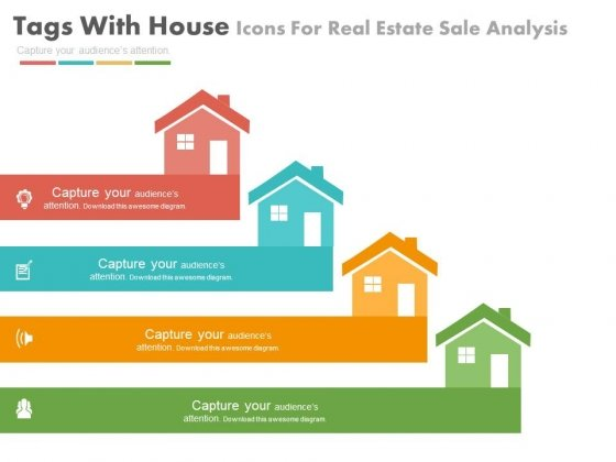 Four House Tags For Real Estate Market Powerpoint Slides - real estate market analysis