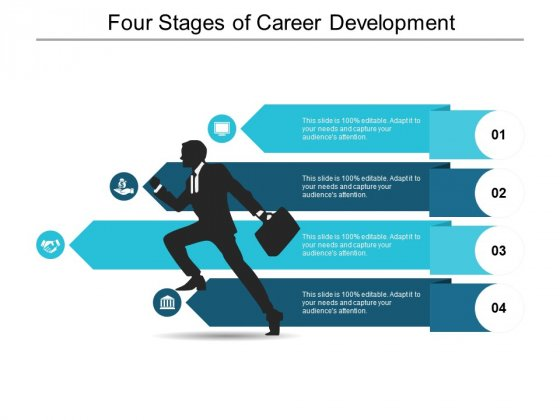 Four Stages Of Career Development Ppt PowerPoint Presentation