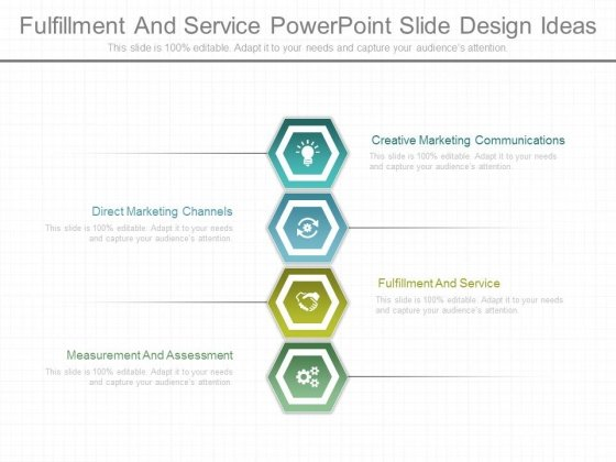 Fulfillment And Service Powerpoint Slide Design Ideas - PowerPoint - power point slide designs