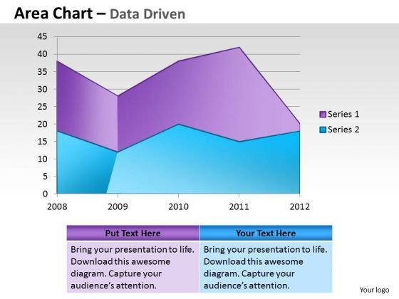 Financial Data Analysis Area Chart For Showing Trends PowerPoint