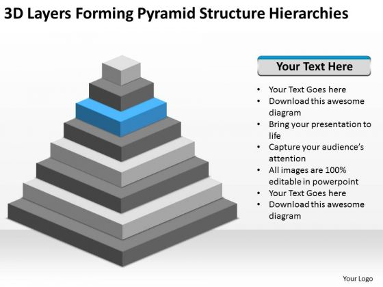 Forming Pyramid Structure Hierarchies Ppt Construction Business Plan