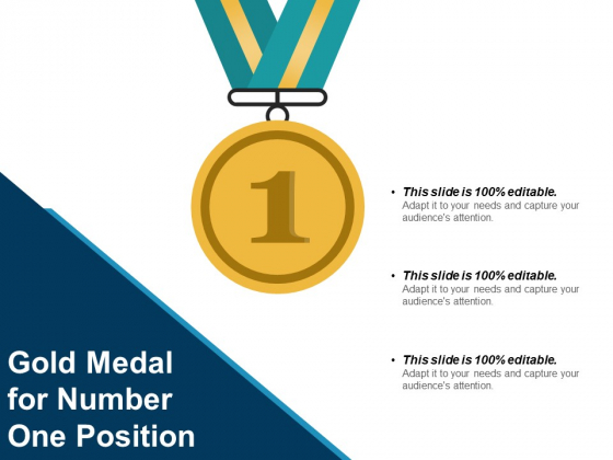 Gold Medal For Number One Position Ppt PowerPoint Presentation