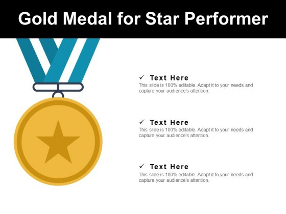 Gold Medal For Star Performer Ppt PowerPoint Presentation
