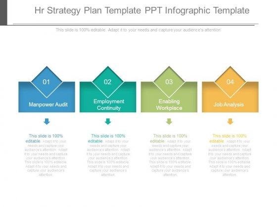 Hr Strategy Plan Template Ppt Infographic Template - PowerPoint