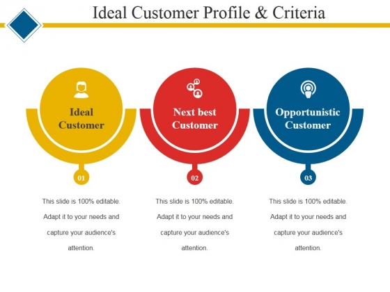 Ideal Customer Profile And Criteria Ppt PowerPoint Presentation Icon - customer profile