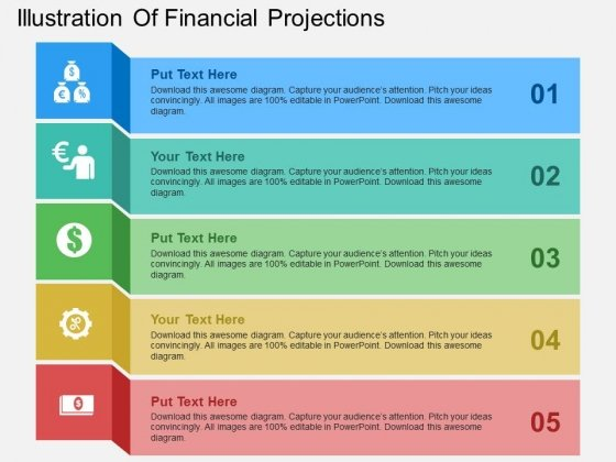 Illustration Of Financial Projections Powerpoint Templates