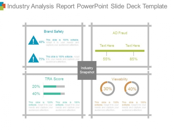 Industry Analysis Report Powerpoint Slide Deck Template - PowerPoint