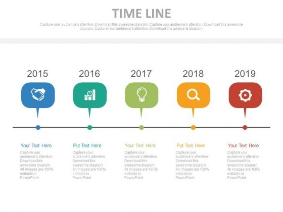 Infographic Timeline Chart For Business Process Powerpoint Slides - timeline slide powerpoint