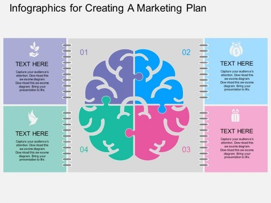 Infographics For Creating A Marketing Plan Powerpoint Template