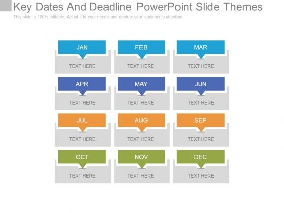 Dates PowerPoint templates, Slides and Graphics - important dates template